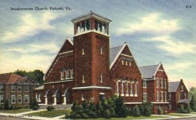 Presbyterian Chruch - Pulaski, Virginia VA Postcard