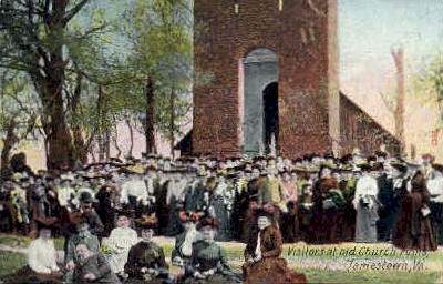 Old Church Ruins - Jamestown, Virginia VA Postcard