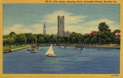 The Haque  - Norfolk, Virginia VA Postcard