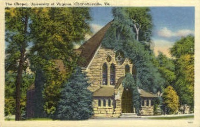 The Chapel, University of Virginia - Charlottesville Postcard
