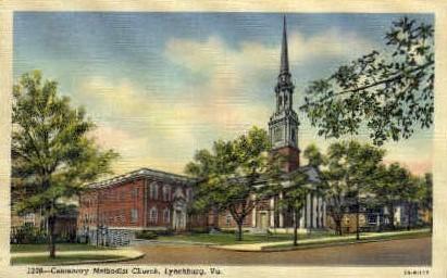 Centenary Methodis Church - Lynchburg, Virginia VA Postcard