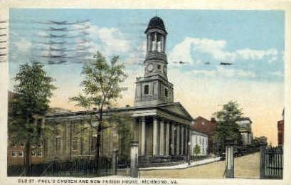 Old St. Pauls Church - Richmond, Virginia VA Postcard