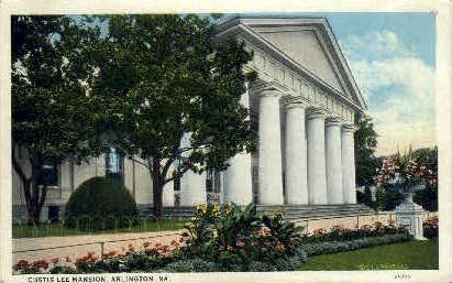 Custis-Lee Mansion  - Arlington, Virginia VA Postcard