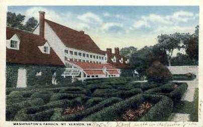 Washingtons Garden - Mt Vernon, Virginia VA Postcard