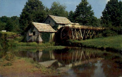 Mabry Mill onf the Blue Ridge Parkway - Roanoke, Virginia VA Postcard