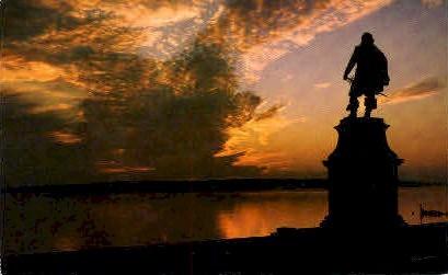 Sunset at Jamestown - Virginia VA Postcard
