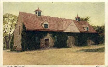 Barn - Mt Vernon, Virginia VA Postcard