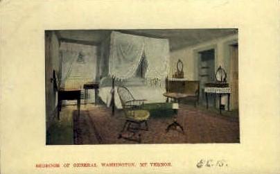 Bedroom of General Washington - Mt Vernon, Virginia VA Postcard