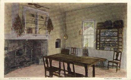 Family Kitchen - Mt Vernon, Virginia VA Postcard