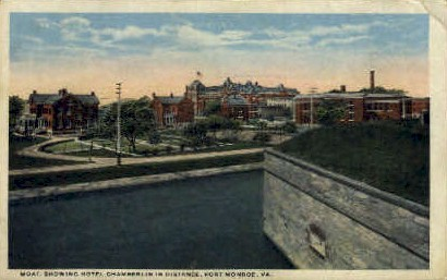 Moat - Fort Monroe, Virginia VA Postcard