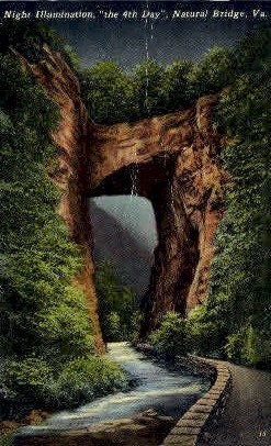 Natural Bridge,Virginia, VA, Postcard
