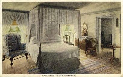 The Washington Bedroom - Mt Vernon, Virginia VA Postcard
