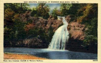 Waterfall - Buena Vista, Virginia VA Postcard