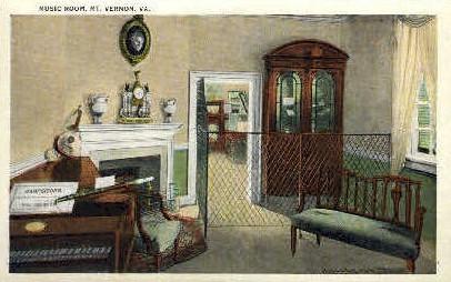 Music Room - Mt Vernon, Virginia VA Postcard
