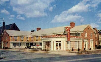Virginia Motel - Mt Vernon Postcard
