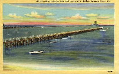 New Pleasure Pier - Newport News, Virginia VA Postcard