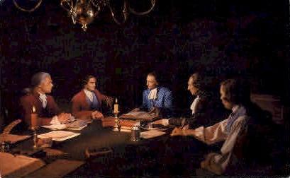Virginia Patriots in Secret Session - Misc Postcard