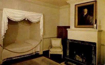 James Monroes Bedroom, Monticello - Charlottesville, Virginia VA Postcard