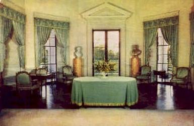 Drawing Room, Monticello - Charlottesville, Virginia VA Postcard