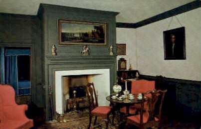 Parlor, Brush-Everard House - Williamsburg, Virginia VA Postcard