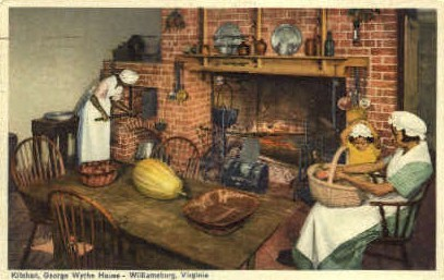 Kitchen George Wythe House - Williamsburg, Virginia VA Postcard