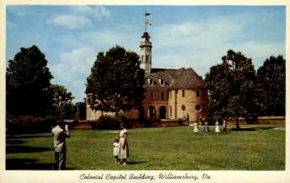 Colonial Capitol Bldg - Williamsburg, Virginia VA Postcard