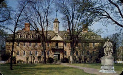 Wren Bldg., College of William & Mary - Williamsburg, Virginia VA Postcard