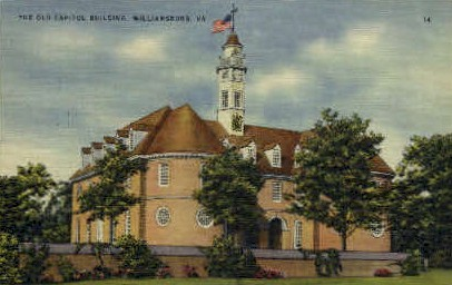 The Old Capitol Bldg - Williamsburg, Virginia VA Postcard