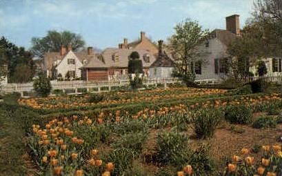 Prentis House Garden - Williamsburg, Virginia VA Postcard