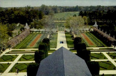 Ballroom Garden - Williamsburg, Virginia VA Postcard