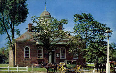 Old Court House - Williamsburg, Virginia VA Postcard