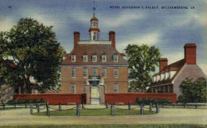 Royal Governors Palace - Williamsburg, Virginia VA Postcard