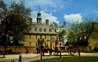 The Governors Palace - Williamsburg, Virginia VA Postcard
