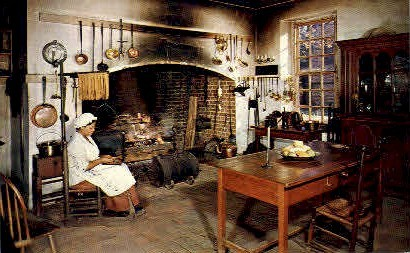 Kitchen at Governors Palace - Williamsburg, Virginia VA Postcard
