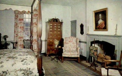 Bed Chamber, George Wythe House - Williamsburg, Virginia VA Postcard