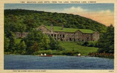 Mt. Lake Hotel - Mt Lake, Virginia VA Postcard