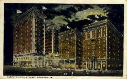 Murphys Hotel - Richmond, Virginia VA Postcard