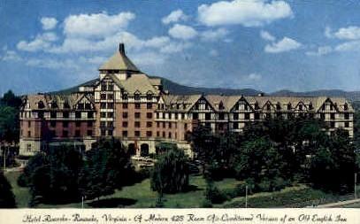 Hotel Roanoke - Virginia VA Postcard