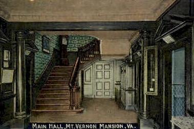 Main Hall, Mt. Vernon - Mt Vernon, Virginia VA Postcard