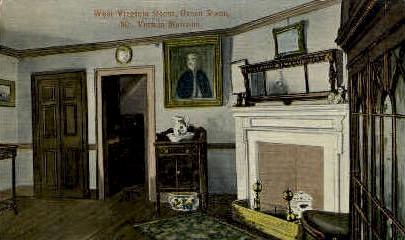 West Virginia Room - Mt Vernon Postcard