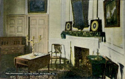 Mrs. Washingtons Sitting Room - Mt Vernon, Virginia VA Postcard