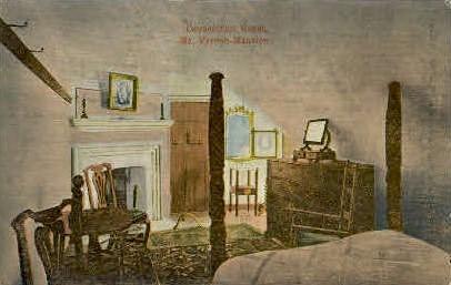 Connecticut Room - Mt Vernon, Virginia VA Postcard