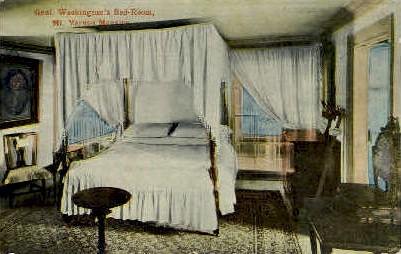 Gen. Washingtons Bedroom - Mt Vernon, Virginia VA Postcard