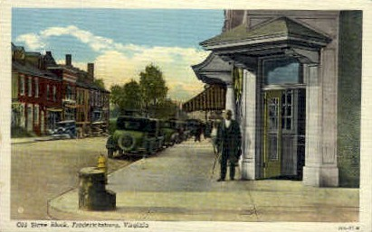 Old Slave Block - Fredericksburg, Virginia VA Postcard