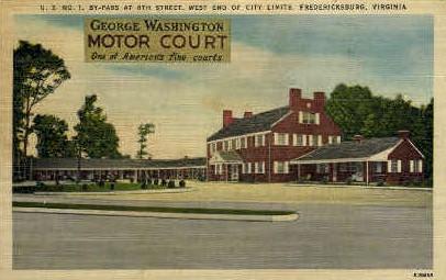 George Washington Motor Court - Fredericksburg, Virginia VA Postcard