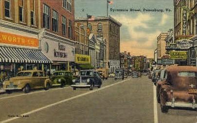 Sycamore St.  - Petersburg, Virginia VA Postcard