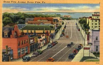 Ocean View Ave. - Virginia VA Postcard