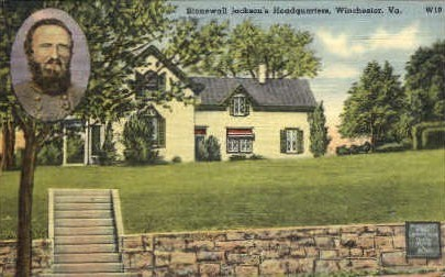 Stonewall Jacksons HQ - Winchester, Virginia VA Postcard