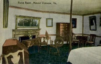 River Room - Mt Vernon, Virginia VA Postcard