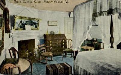 nellie Custis's Room - Mt Vernon, Virginia VA Postcard